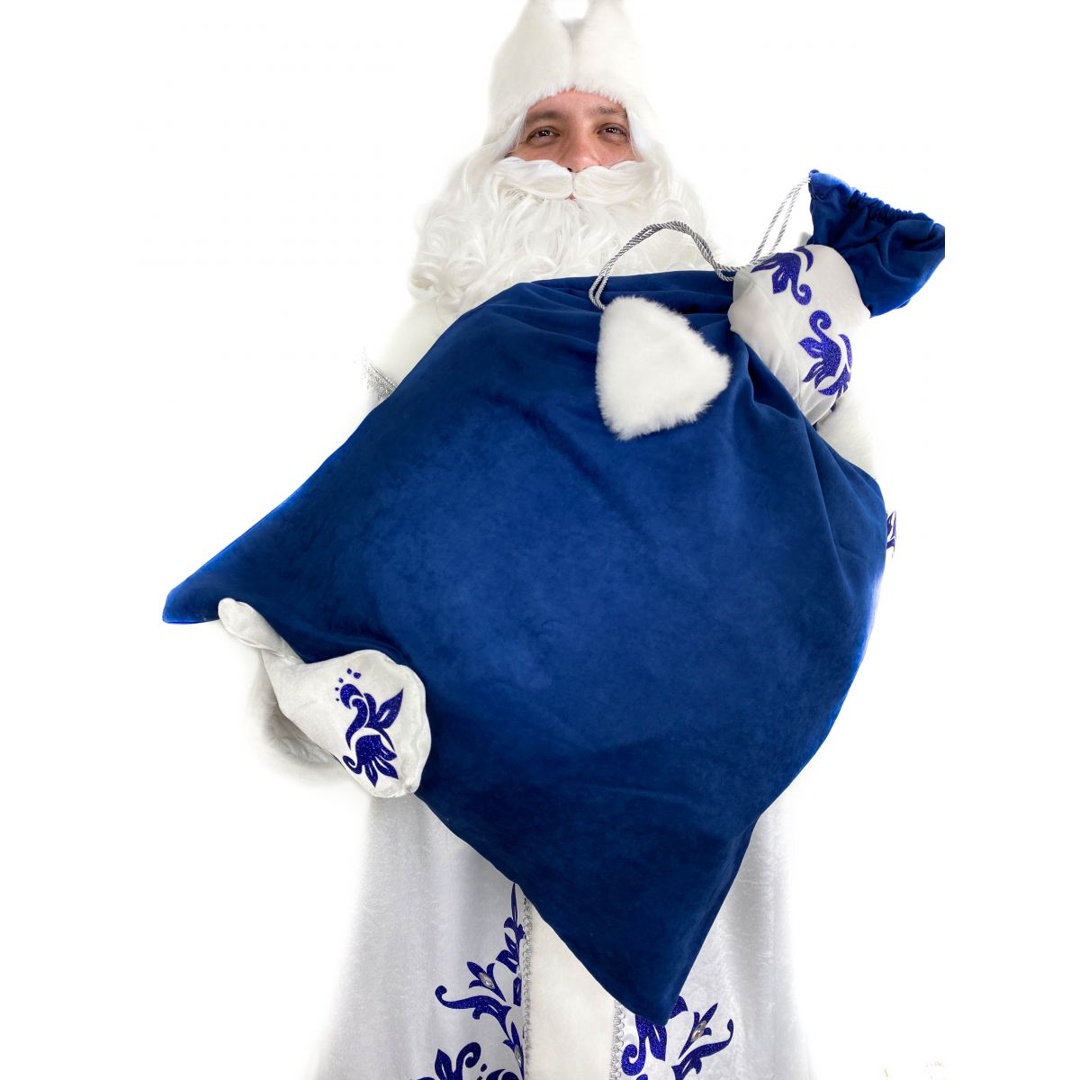 Мішок для подарунків Синій 75х100