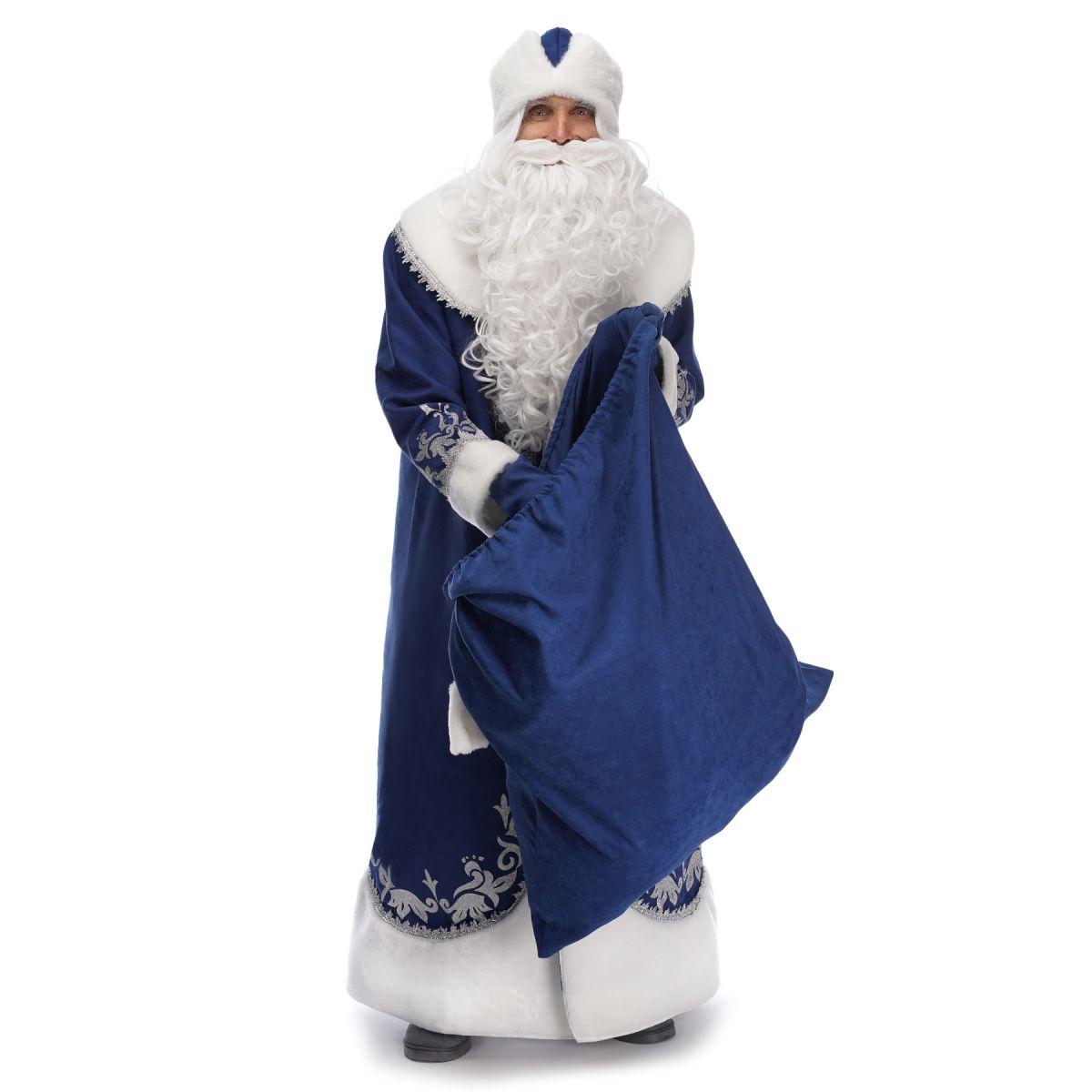 Мішок для подарунків Синій 50х75
