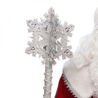 Посох Діда Мороза Срібна Сніжинка