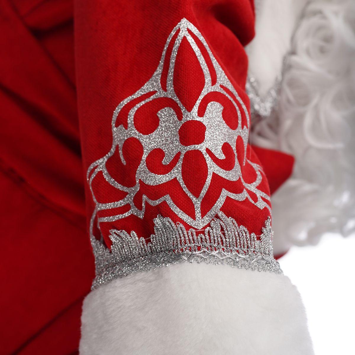 Костюм Діда Мороза Сніжний Червоний