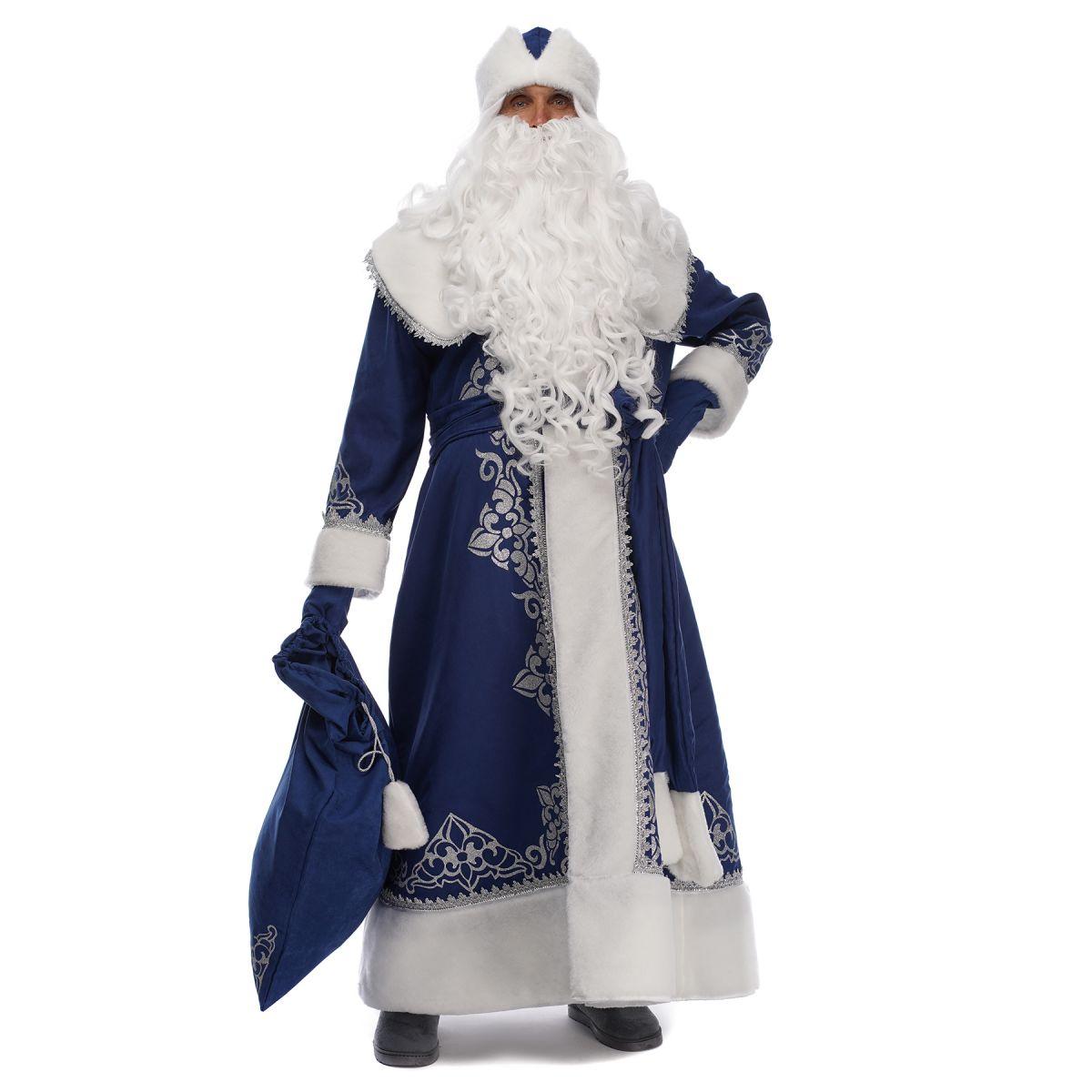 Костюм Діда Мороза Сніжний Синій