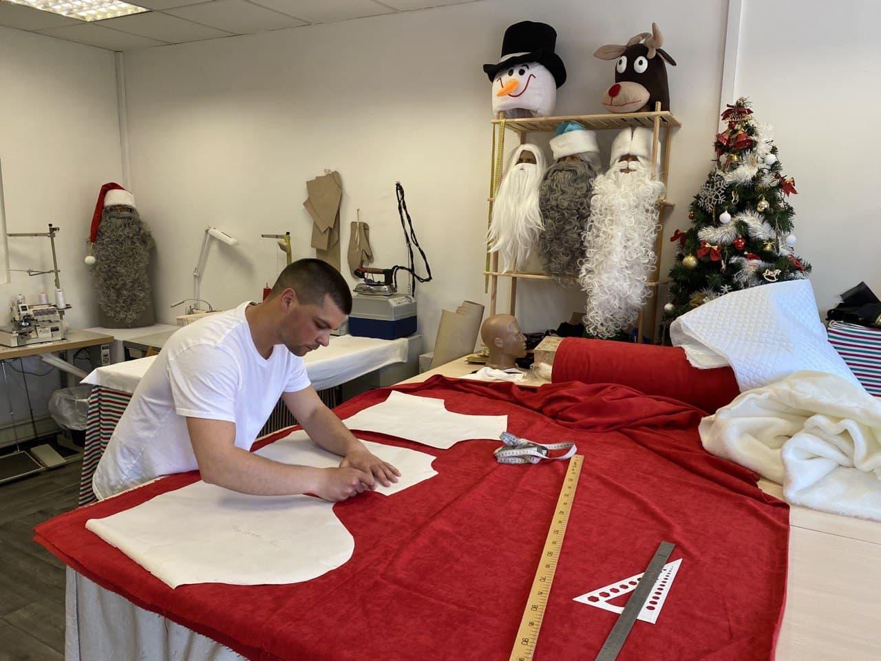 Раскрой костюма Деда Мороза